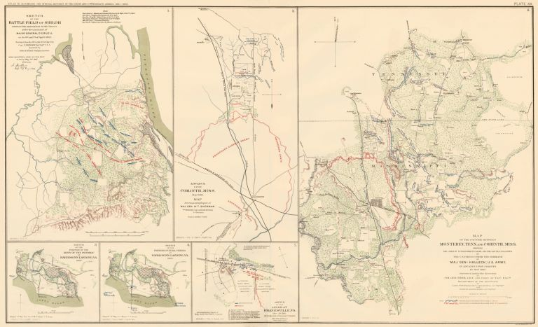 Shiloh or Pittsburg Landing, Corinth, Harrison's Landing, and Dranesville. Atlas to Accompany the Official Records of the Union and Confederate Armies. The United States War Department.