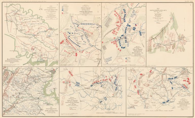 Peninsular Campaign, Cedar Mountain, and Northern Virginia Campaign. Atlas to Accompany the Official Records of the Union and Confederate Armies. The United States War Department.
