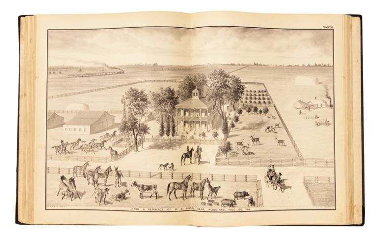 The Illustrated Atlas and History of Yolo County, Cal. Containing a history of California from 1513 to 1850, a history of Yolo County from 1825 to 1880, with statistics of agriculture, education, churches, elections, lithographic views of farms. DePue, Company.
