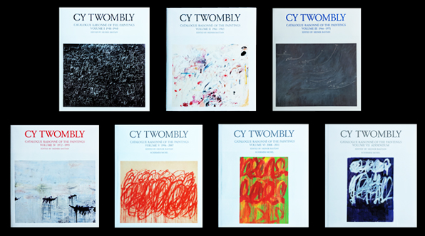 CY TWOMBLY: Catalogue Raisonné of the Paintings. Volumes I -VII. Heiner Bastian.