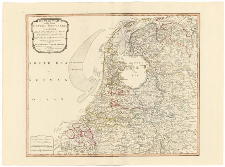 17. Seat of War in the Seven United Provinces. A New Universal Atlas. Thomas Kitchin.