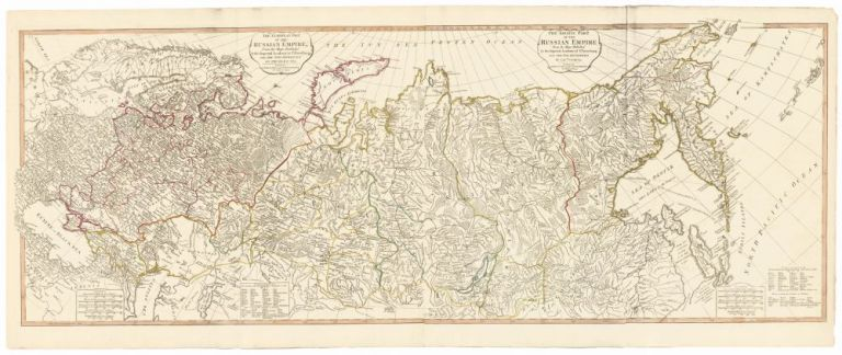 41. Russian Empire in Europe and Asia, from A New Universal Atlas. Thomas Kitchin.