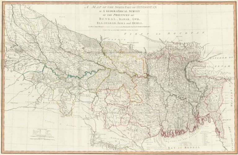 52. The North Part of Hindostan. A New Universal Atlas. Thomas Kitchin.