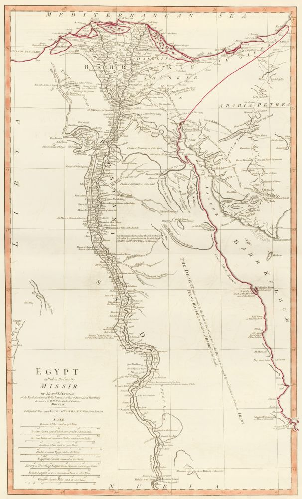 59. Egypt Called in the Country Missir. A New Universal Atlas. Thomas Kitchin.