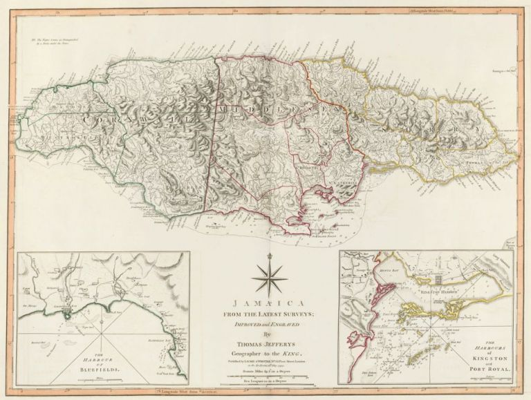 65. Jamaica. A New Universal Atlas. Thomas Kitchin.