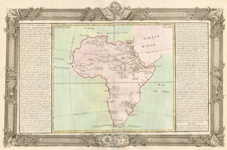 Lakes, Streams, Rivers of Africa. Géographie Moderne. Jean-Baptiste Louis Clouet.
