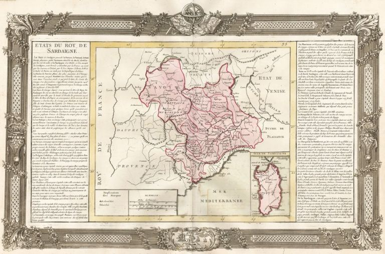 Sardinia and Northwestern Italy (including Turin and Genoa). Géographie Moderne. Jean-Baptiste Louis Clouet.