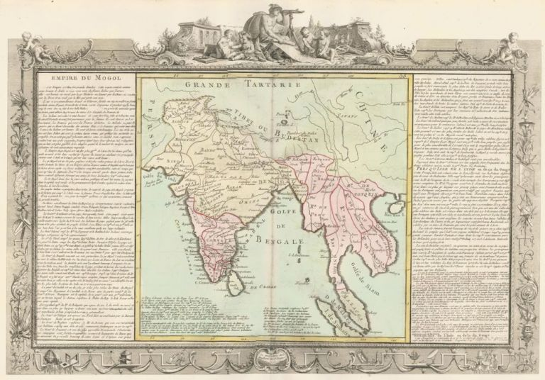 Mughal Empire (India and Southeast Asia). Géographie Moderne. Jean-Baptiste Louis Clouet.