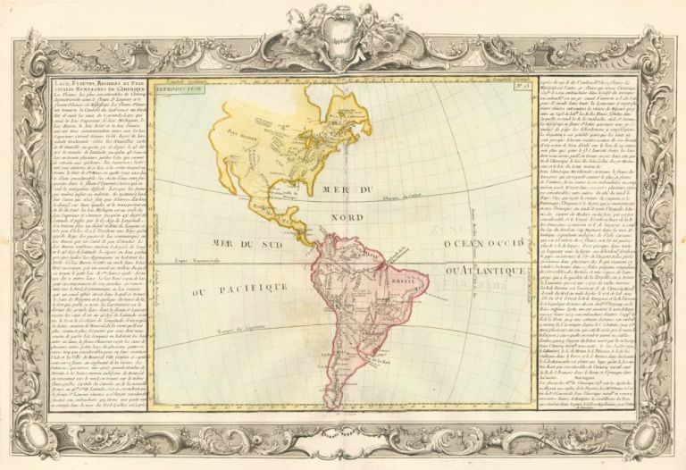 Lakes, Streams, Rivers of North & South America. Géographie Moderne. Jean-Baptiste Louis Clouet.