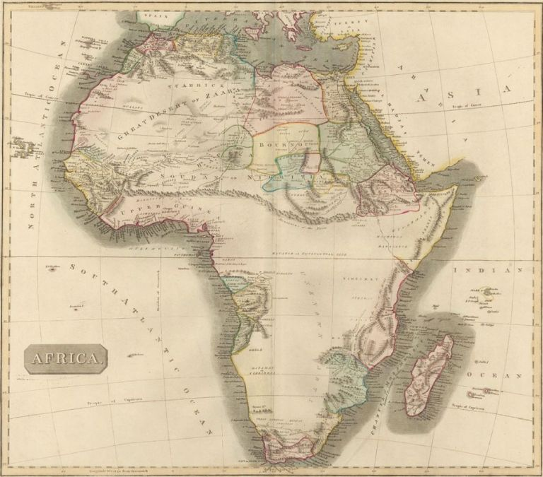Africa, from the New General Atlas. John Thomson.