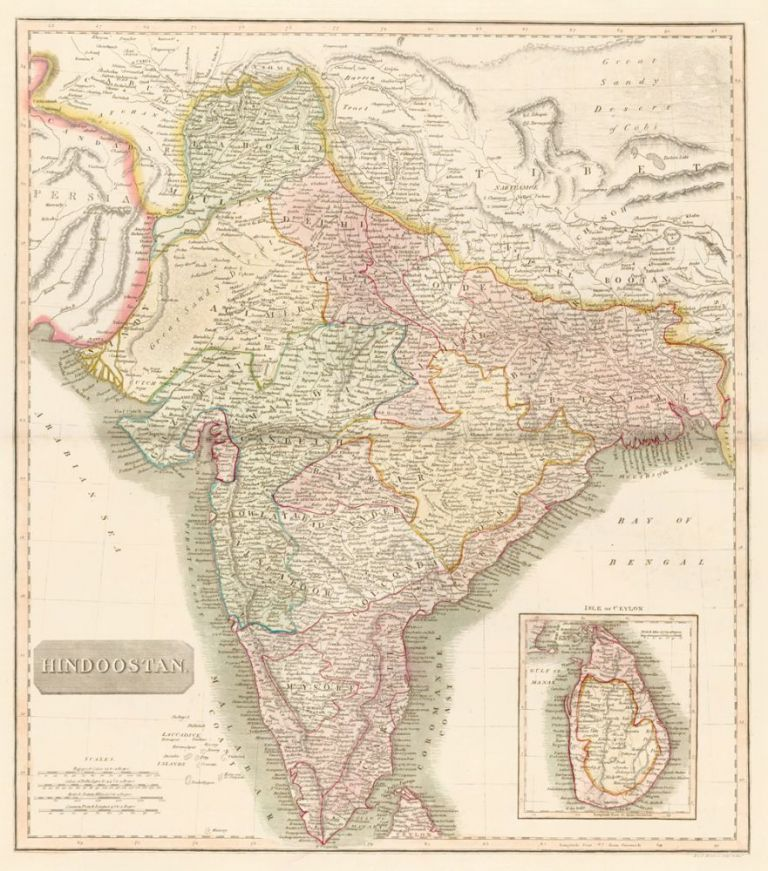 Hindoostan, from the New General Atlas. John Thomson.