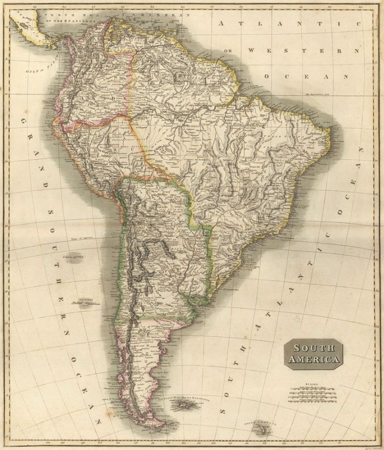South America, from the New General Atlas. John Thomson.