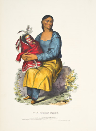 A CHIPPEWAY WIDOW. History of the Indian Tribes of North America. Thomas McKenney, James Hall.