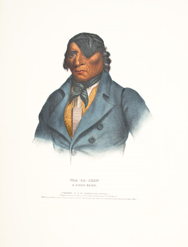 WAA-PA-SHAW. History of the Indian Tribes of North America. Thomas McKenney, James Hall.