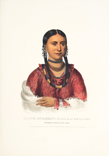 HAYNE HUDJIHINI. History of the Indian Tribes of North America. Thomas McKenney, James Hall.