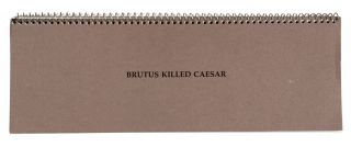 Brutus Killed Caesar. John Baldessari.