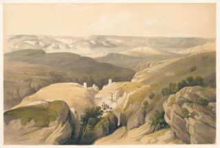 Convent of St. Saba. The Holy Land. David Roberts