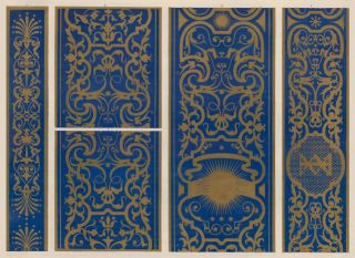Portions of the Painted Pilasters in the Gabinetto d'Isabella. Specimens of Ornamental Art. Lewis...