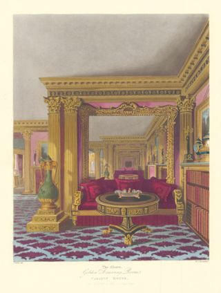 The Alcove, Golden Drawing Room, Carlton House. The History of the Royal Residences...
