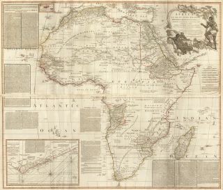 57 & 58. Africa. A New Universal Atlas. Thomas Kitchin, S. Boulton