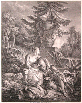 La Bergere Prevoyante. Francois Boucher, after