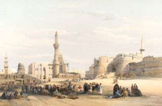 The Entrance to the Citadel of Cairo. Egypt and Nubia. David Roberts.