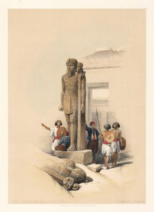 Colossi at Wady Saboua. Egpyt and Nubia. David Roberts.