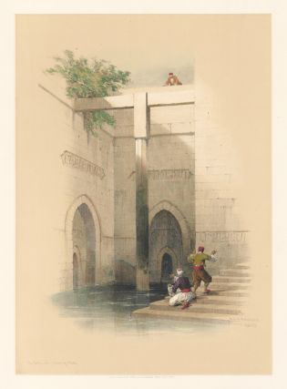 The Nilometer on the Island of Rhoda, Cairo. Egpyt and Nubia. David Roberts