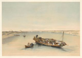 Slave Boat on the Nile. Egypt & Nubia. David Roberts
