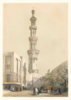 Minaret of the Principal Mosque in Siout, Upper Egypt. Egypt and Nubia. David Roberts.