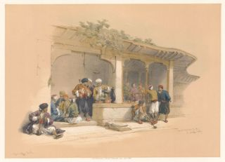 The Coffee-Shop of Cairo. Egypt and Nubia. David Roberts.