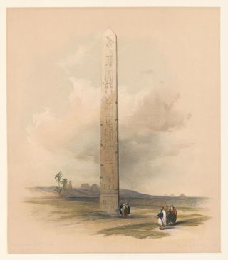 Obelisk of On. Egypt and Nubia. David Roberts