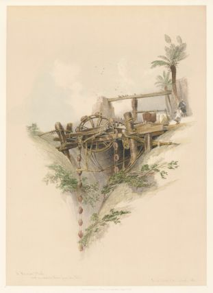 Persian Water-Wheel, Used for Irrigation in Nubia. Egypt and Nubia. David Roberts