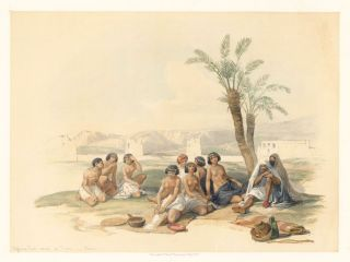 Abyssinian Slaves at Korti. Egypt and Nubia. David Roberts.