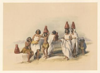 Nubian Women at Korti. Egypt and Nubia. David Roberts