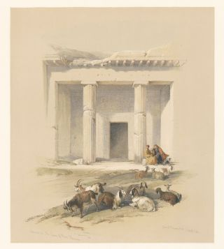 Entrance to the Caves of Beni Hassan. Egypt and Nubia. David Roberts.