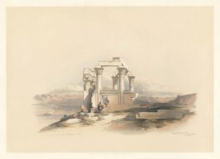 Ruins of the Temple of Kardeseh, Nubia. Egypt and Nubia. David Roberts
