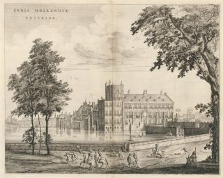 Curia Hollandiae Exterior. Dutch School.