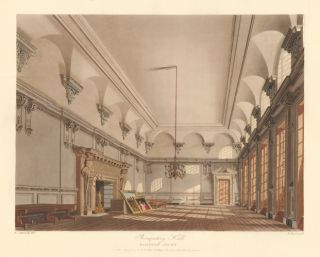 The Banqueting Hall, Hampton Court. The History of the Royal Residences. W. H. Pyne, Pyne