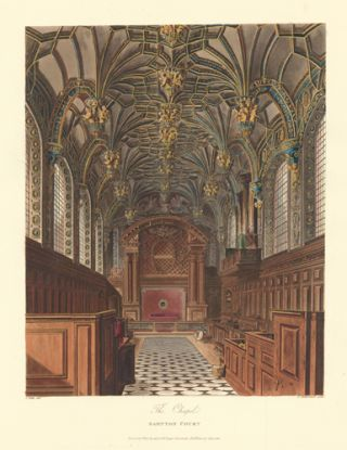 The Chapel, Hampton Court. The History of the Royal Residences. W. H. Pyne, Pyne