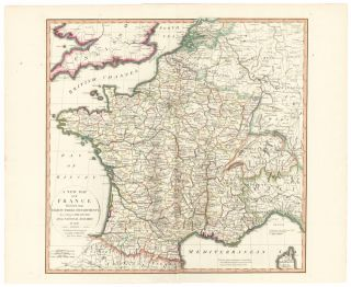 19. France. A New Universal Atlas. Thomas Kitchin.