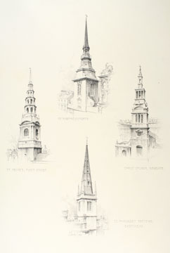 Original drawings for Renaissance Architecture of England. Albert Thornton Bishop