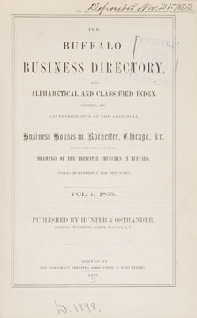 Buffalo Business Directory, With Alphabetical and Classified Index.