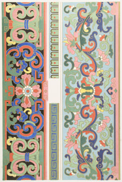 Examples of Chinese Ornament.