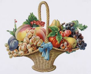 Fruit basket]. French or English School