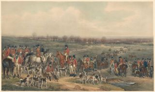 The Meeting of Her Majesty's Stag Hound on Ascot Heath. Sir Francis Grant