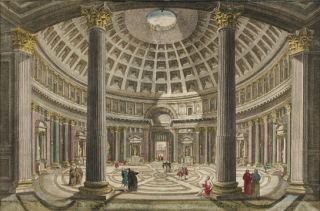 The Inside of the Pantheon at Rome. European School.