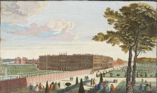 A View of the Royal Palace of Hampton Court. European School