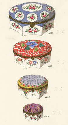 06581. Jewelry box designs. Gabriel Fourmaintraux Porcelain Company.