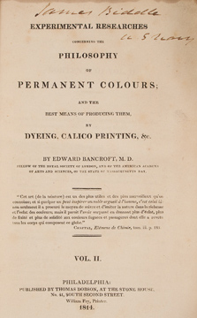 Experimental researches concerning the philosophy of permanent colour...